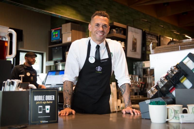 Starbucks happy employee